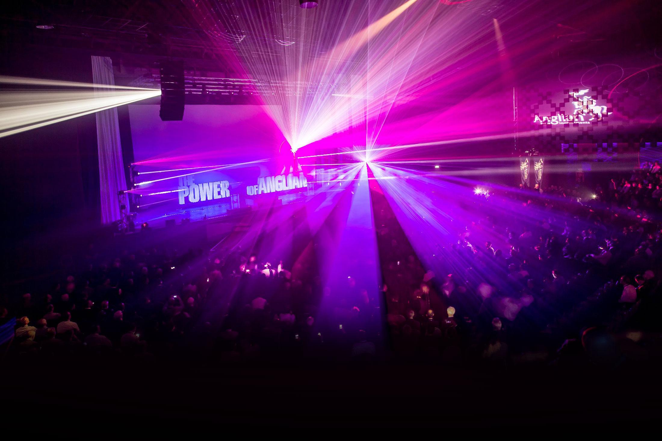 Kingsgate Auditorium light show